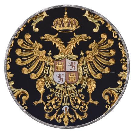 Plato de damasquinado - Escudo de Toledo_01